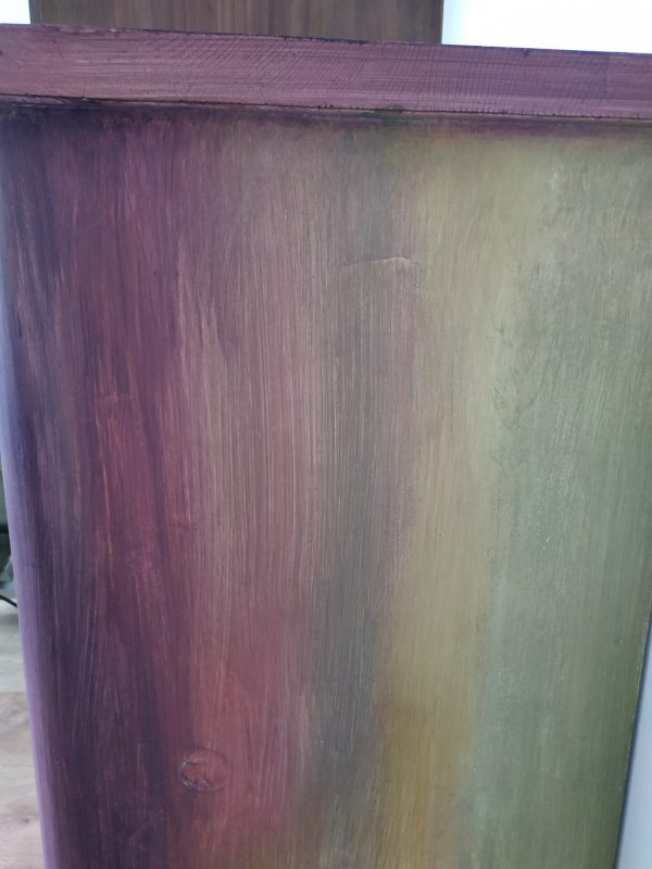 Éjjeli szekrény naplemente színekben - utána