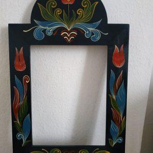 Kerékgyártó Emese - E-Sublót - Festett tükörkeret - rózsás